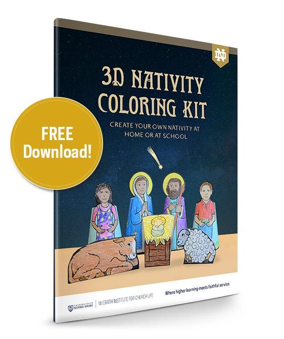 McGrath Institute 3D Nativity Coloring Kit 2018